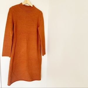 ROOLEE burnt orange sweater dress sz. M